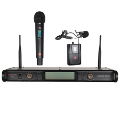 Studiospares 2.4GHz Dual Wireless System Handheld + Lavalier S2.4/HH/LAV