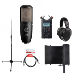 Voiceover Kit Pro with AKG P220 - Reflection Filter Black