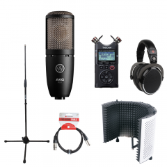 Voiceover Kit Pro with AKG P220 - Reflection Filter White