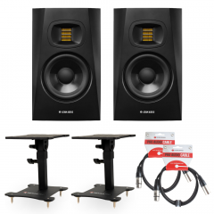 Adam T5V Bundle Desktop Monitor Stands & Leads