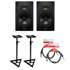 Adam T7V Bundle Monitor Stands & Leads