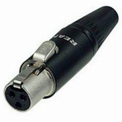 Rean RT3FC-B Female 3-Pin Mini XLR