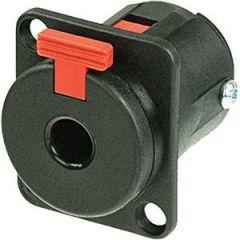 Neutrik NJ3 FP6P-BAG Jack Chassis Locking Black Plastic