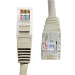 CAT 6 1m Grey Patch Cord