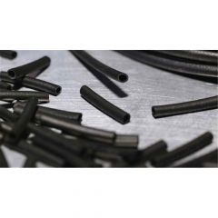 Hellerman Rubber Tubing 3mm x 20mm Black 1000-Pack