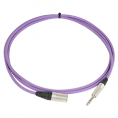 Pro Neutrik XLR Male - Balanced Jack Lead 2.5m Violet