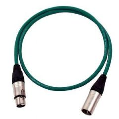 Pro Neutrik XLR Cable 1m Green