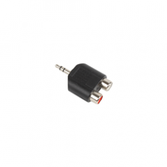 Stereo Mini Jack - 2x Phono Socket Adaptor