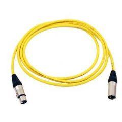 Pro Neutrik XLR Cable 2.5m Yellow