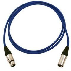 Pro Neutrik XLR Cable 2.5m Blue