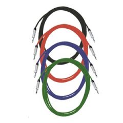 Pro Neutrik Unbalanced / Mono Jack Leads 10m Coloured 4-Pack