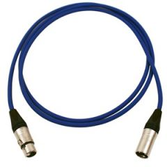 Pro Neutrik XLR Cable 2m Blue