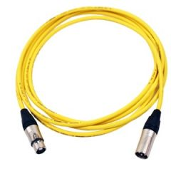 Pro Neutrik XLR Cable 3.5m Yellow