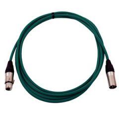 Pro Neutrik XLR Cable 3.5m Green