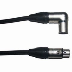 Pro Neutrik XLR Female - Angled XLR Male Lead 5m