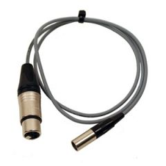 Pro 3-Pin Mini XLR Male - XLR Female Lead 2.5m