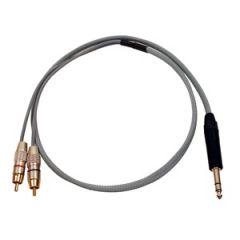 Pro Neutrik Stereo Jack – 2x Phono Splitter 1m