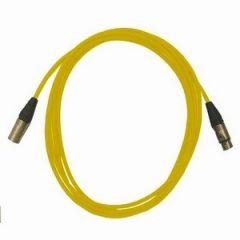 Pro Neutrik XLR Cables 5m Yellow (5 Pack)