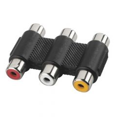 3x Phono Socket - 3x Phono Socket Coupler