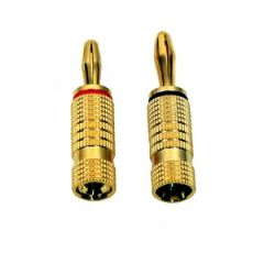 Banana Plugs pair Red/Black Gold Plated
