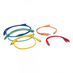 Hosa CMM-500Y-MIX Hopscotch Patch Cables 5-pack 45cm Mixed
