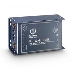 Palmer PLI04USB 2-Channel USB DI Box Line Isolator