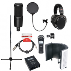 Voiceover and Podcasting Kit with Studiospares S1005 - Reflection Filter Black