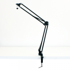 Broadcaster Multipoise Desk Boom Arm Desk Clamp