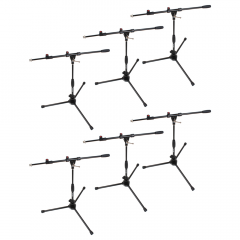 Studiospares 6-Pack Pro Short Mic Stands and Booms
