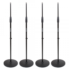 Studiospares 4-Pack Pro Round Base Mic Stands
