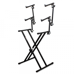 Trojan Pro Expandable & Folding Three Tier X-Framed Keyboard Stand