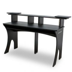 Studio Desk - Priam Workstation Black by Trojan Pro
