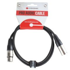 XLR Male - XLR Female Lead 25m Black