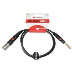XLR Male - Stereo Jack Moulded 1m