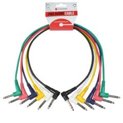 Patch Cords x6 Stereo R/A-Straight 60cm