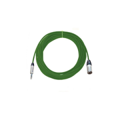 Pro Neutrik XLR Male - Balanced Jack Lead 20m Green