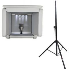 Isovox 2 Portable Vocal Booth White with Pro Stand