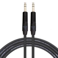 Pro Neutrik Stereo Jack - Stereo Jack Lead 1m Black