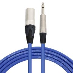 Pro Neutrik XLR Male - Balanced Jack Lead 1m Blue