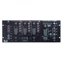 NJS NJM402U 4 Channel DJ Mixer with USB Input