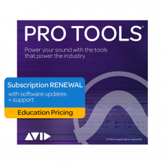 Avid Pro Tools 1-Year Subscription Renewal - Education