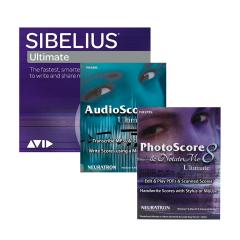 Avid Sibelius Ultimate with Neuratron Photoscore, Audioscore, NotateMe