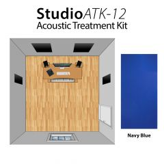 Studiospares StudioATK-12 Acoustic Treatment Kit Navy Blue