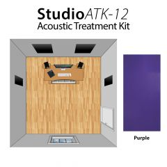 Studiospares StudioATK-12 Acoustic Treatment Kit Purple