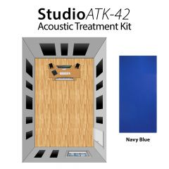 Studiospares StudioATK-42 Acoustic Treatment Kit Navy Blue